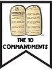 10 Commandments Color Banners with Bible verse and clip art