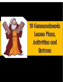 10 Commandments Lesson, Activities and Quizzes
