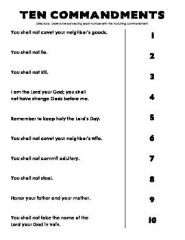 10 Commandments Matching