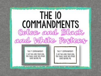 10 Commandments Posters: Color and BW