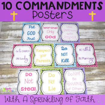 10 Commandments Posters for Kids