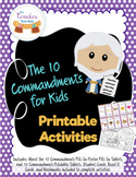 10 Commandments Printable Activities