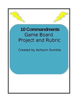 10 Commandments Project and Rubric