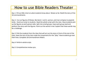 10 Commandments Readers Theater