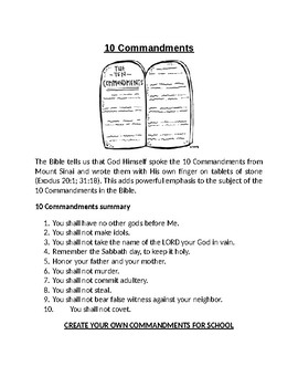image about Ten Commandments Printable Activities referred to as 10 Commandments Worksheet