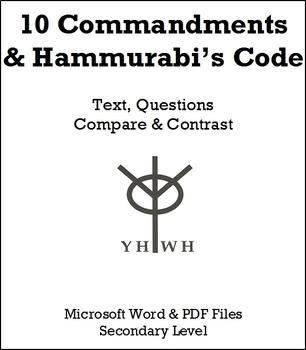 10 Commandments and Hammurabi's Code