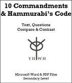10 Commandments and Hammurabi's Code