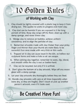 10 Commandments of Working with Clay