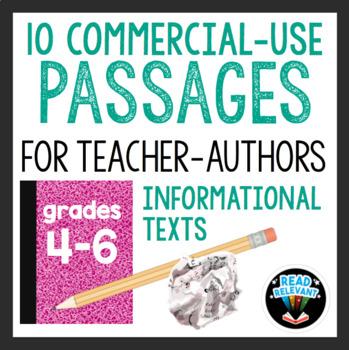 10 Commercial Use Passages for Teacher-Authors