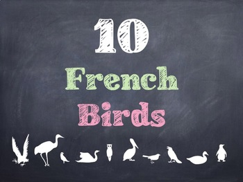 10 Common French Birds PowerPoint