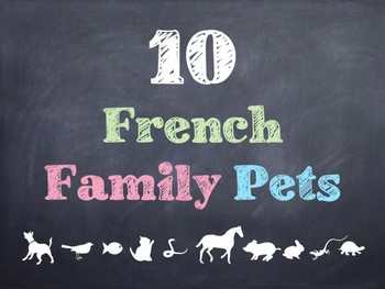 10 Common French Family Pets PowerPoint