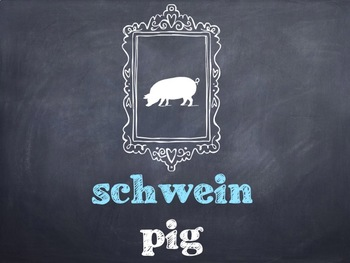 10 Common German Barnyard Animals PowerPoint