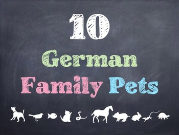 10 Common German Family Pets PowerPoint