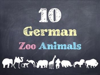 10 Common German Zoo Animals PowerPoint