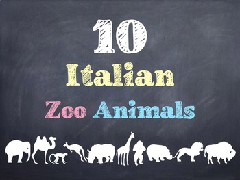 10 Common Italian Zoo Animals PowerPoint
