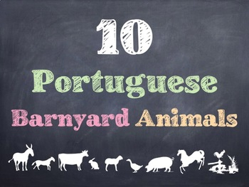 10 Common Portuguese Barnyard Animals PowerPoint