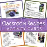 12 Sensory Recipe/Activity Cards