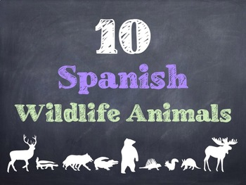 10 Common Spanish Wildlife Animals PowerPoint
