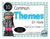 10 Common Themes In Texts: Posters for Grades 1-4-Plaid Edition