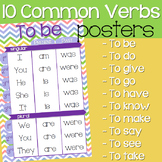 10 Common Verbs Posters