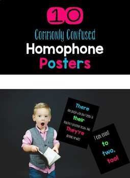 10 Commonly Confused Homophone Posters
