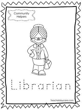 11-Community Helpers Tracing Worksheets. Preschool-Kindergarten.