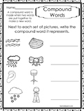 10 Compound Words Worksheets.  K-1st Grade Literacy Worksheets.