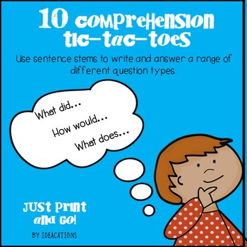 Question Stems - Tic-Tac-Toes