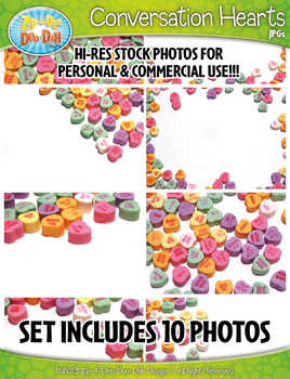 10 Conversation Hearts Stock Photos Pack — Includes Commercial License!