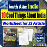 10 Cool Things about India - Read, Think, & Analyze Worksheet