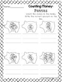 10 Count the Money Worksheets.  Preschool-1st Grade Math.
