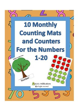 10 Counting Mats & Counters in Color