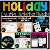 10 Creative Easy Holiday Activity Bundle