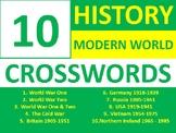 10 Crosswords History Modern World History Crossword Wordsearch Homework