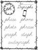 10 Cursive Digraph Tracing Worksheets. Kindergarten-2nd Grade ELA.