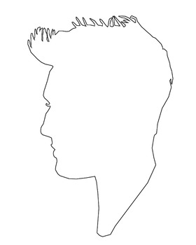 Custom Personalized Silhouette Outline Side Profile Portraits (10 for $5)