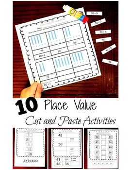 10 Cut and Past Activities to Practice Place Value for Num