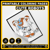 10 Cute Robots Coloring Pages