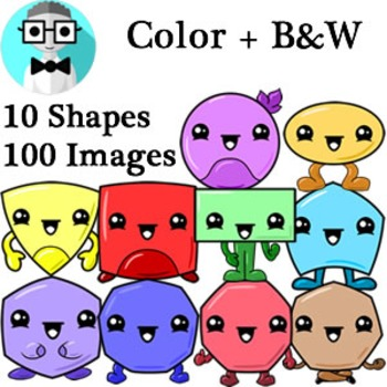 Cute Shapes clip art [Variety Pack]