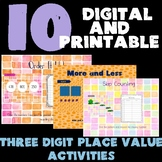 10 DIGITAL AND PRINTABLE PLACE VALUE ACTIVITIES!