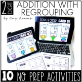10 DIGITAL or PRINTABLE Addition with Regrouping Activities {2-Digit Addition}