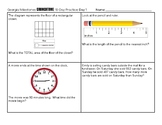 10-Day 3rd Grade Georgia Milestones Test Prep SAMPLER (2 pages with answer key)