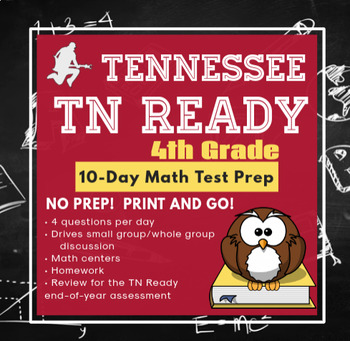 10-Day 4th Grade Tennessee TNReady Test Prep & Review Packet - NO PREP!