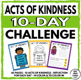 Acts of Kindness 10-Day Challenge! - End of School Year Activity