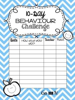 10-Day Behavior Challenge