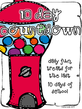 10 Day Countdown Gumball Style {a daily treat for the last 10 days}