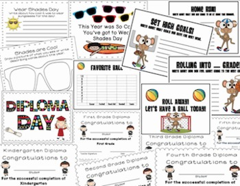10 Day Countdown for the End of the Year {Literacy Fun & K-5 Editable Diplomas}