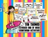 End of the Year 10 Day Countdown {Literacy Fun & K-5 Editable Diplomas}