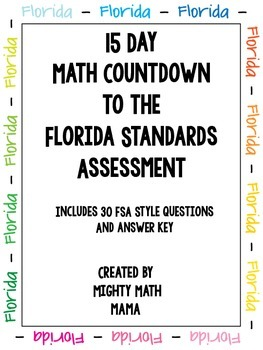 15 Day FSA Math Countdown Packet