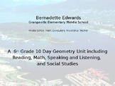 10 Day Geometry Unit Maps, Satellite Imagery, Powerpoint,